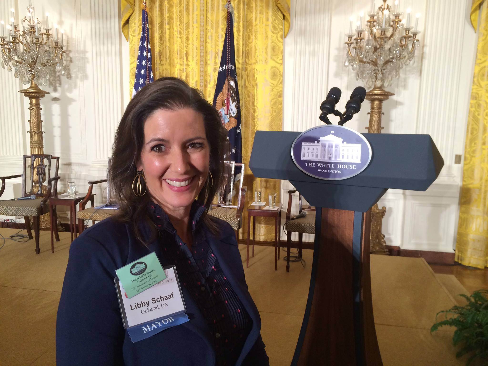 Mayor Schaaf was at The White House for The U.S. Conference Of Mayors