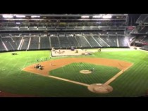 Oakland Coliseum In Changeover Raiders To A's #AZvOAK – Video
