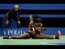 Serena Williams Splits US Open 2015 Goes Viral – Video