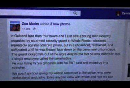 Whole Foods Oakland Beating Of Black Man Racist #OakMtg #BlackLivesMatter
