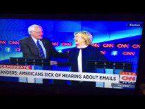 """Bernie Sanders """"Enough With The Damn Emails"""" CNN Debate #DemDebate – Video"""