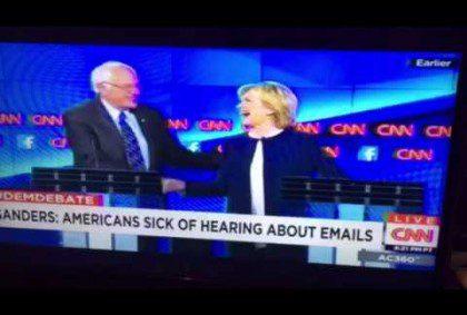"""Bernie Sanders """"Enough With The Damn Emails"""" CNN Debate #DemDebate"""
