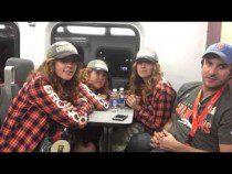 Broncos Fans On Train Talk Super Bowl 50 #SB50 – Video