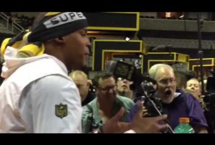 Cam Newton Interview At Super Bowl Media Day #SB50
