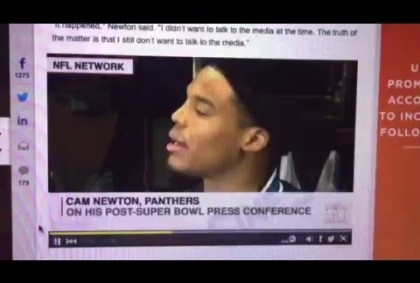 """Cam Newton Says """"I Am Not A Loser"""" In Reason For Walking Away From Media #SB50"""
