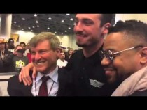 Cuba Gooding Jr., Paxton Lynch, Leigh Steinberg At Super Bowl 50 #SB50 – Video