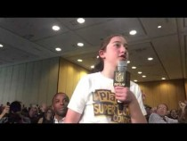 Marlo Mosley NFL Play60 Super Kid Asks NFL Commissioner A Question #SB50 – Video