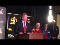 Roger Goodell Praises SF Super Bowl Host Committee #SB50 – Video