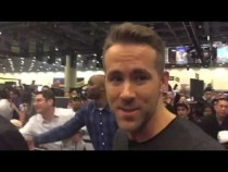 Ryan Reynolds Meets Amani Toomer At Super Bowl 50 #SB50
