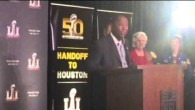 Sylvester Turner Houston Mayor At Super Bowl LI Presentation #SB51 #SB50 – Video