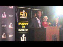 Sylvester Turner Houston Mayor At Super Bowl LI Presentation #SB51 #SB50 – Video